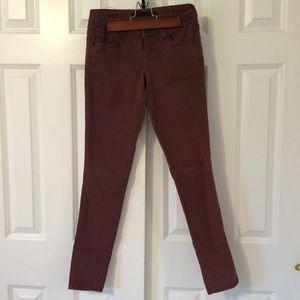 🆕 Dark maroon skinny jeans NWOT